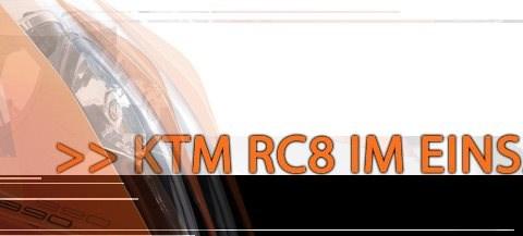 KTM RC8 im Einsatz