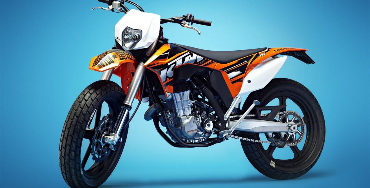 Dirttrack Bike Umbau auf KTM 500 EXC Basis
