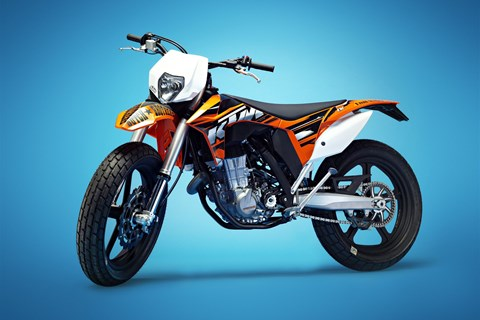 Dirttrack Bike Umbau auf KTM 500 EXC Basis