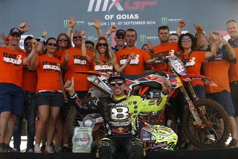 KTM Werksfahrer Tony Cairoli erneut MXGP Weltmeister auf KTM