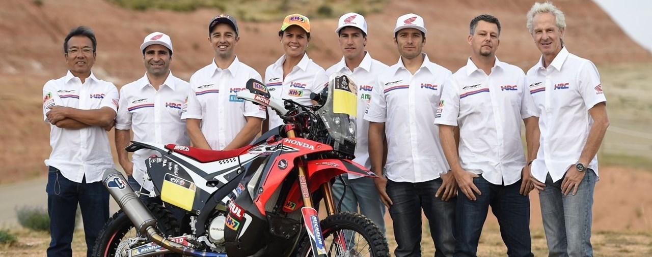 Hondas Team HRC mit der CRF 450 Rallx bei der Dakar 2015