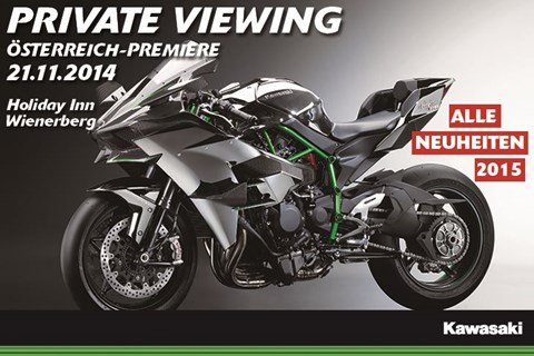 Kawasaki präsentiert die Ninja H2 in Wien