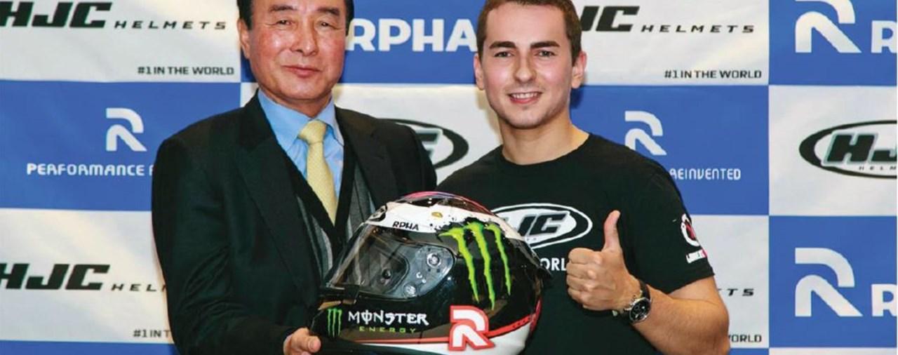 Lorenzo mit HJC Helm bis 2016