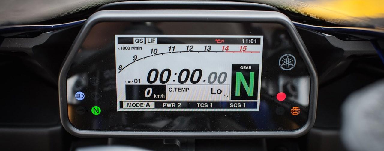 Yamaha R1 2015 Display und Bordmenü