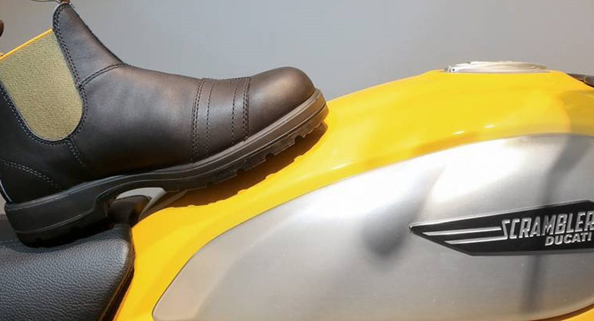 Ducati Scrambler-Stiefel von Kultmarke Blundstone