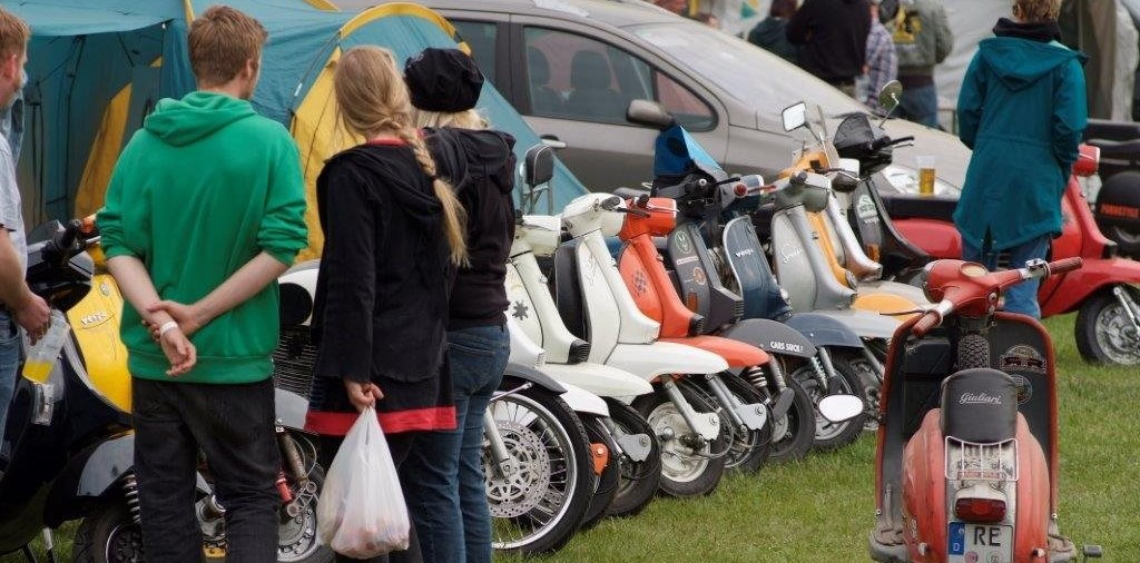 Internationaler Scooter Run im Sauerland an Pfingsten