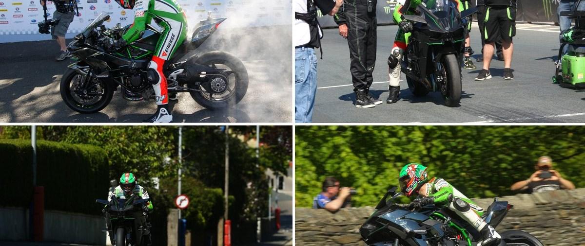 Kawasaki H2R Geschwindigkeitsrekord Isle of Man