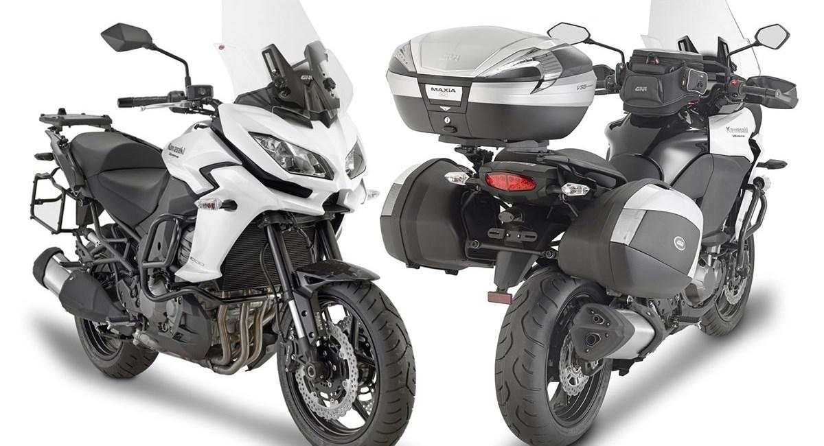 Neue Fahrzeugausstattung für Kawasaki Versys 1000 von GIVI