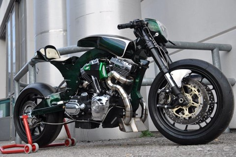 Harley-Custombike von North Coast Custom, Italien