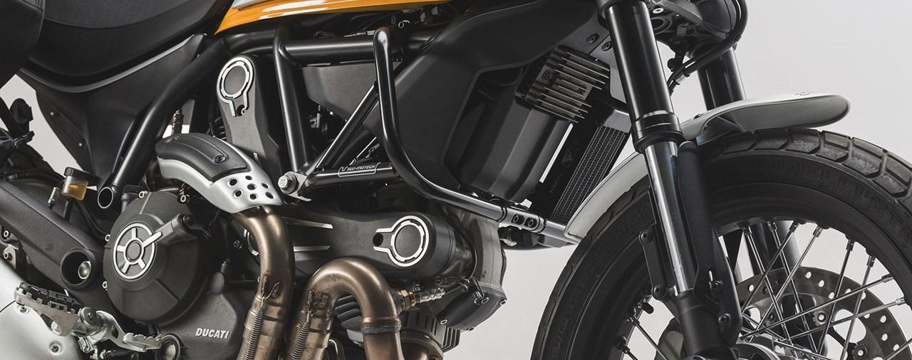 SW-MOTECH stellt Schutzbügel für Ducati Scrambler vor