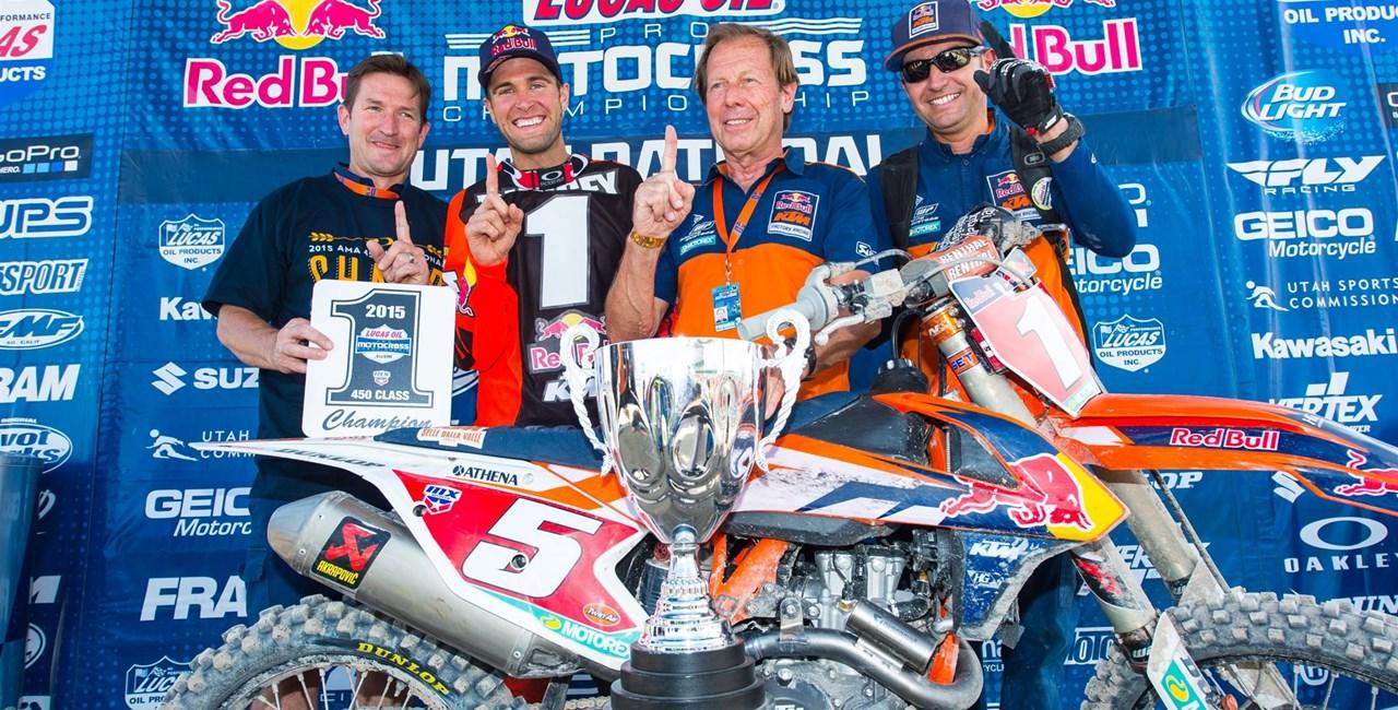 Ryan Dungey holt den Titel in der US 450 Pro MX Meisterschaft