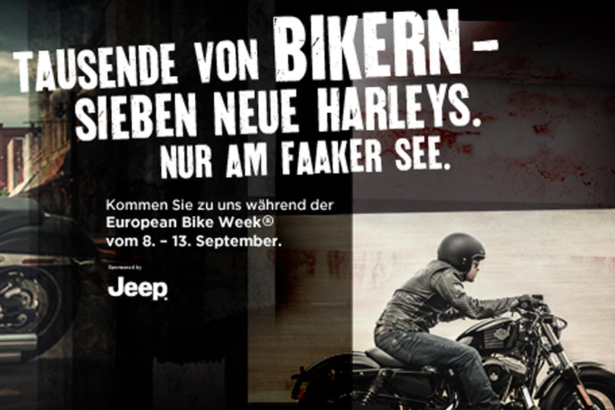 harley davidson pr sentiert neue modelle in faak event. Black Bedroom Furniture Sets. Home Design Ideas