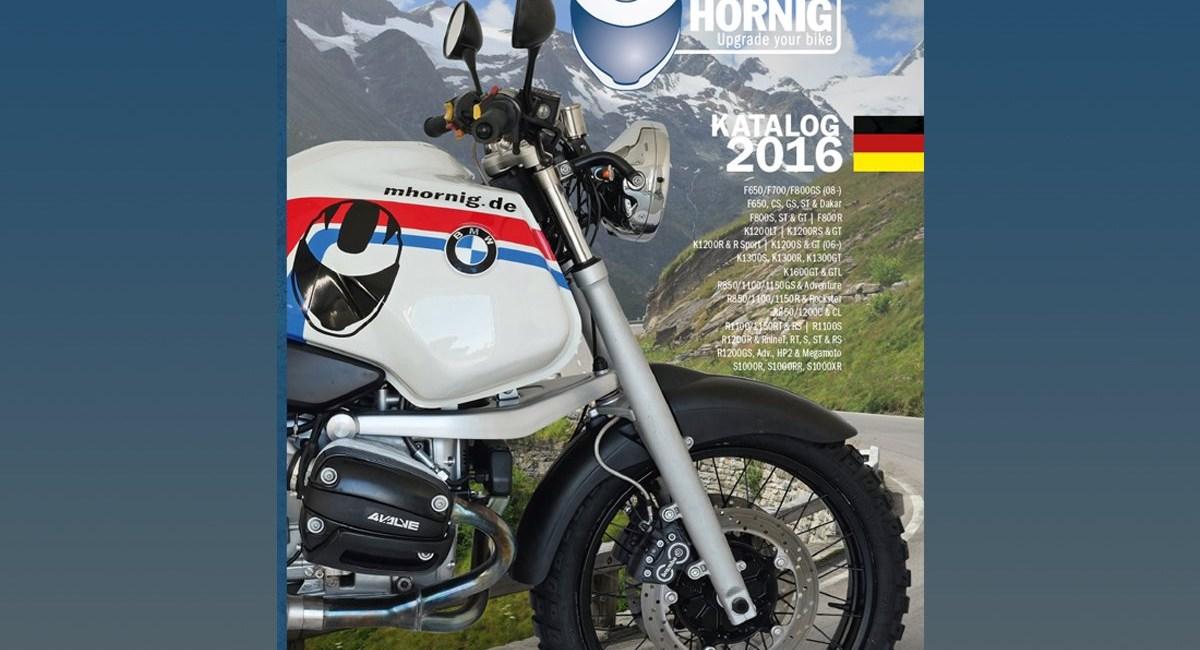 Neue Website und neuer Katalog für BMW Motorradzubehör von Hornig