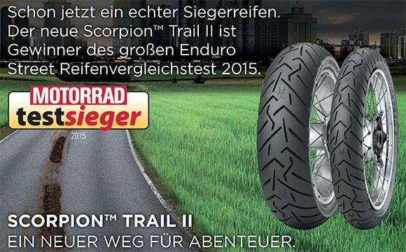 """PIRELLI Scorpion Trail II gewinnt beim """"MOTORRAD""""-Vergleichstest"""