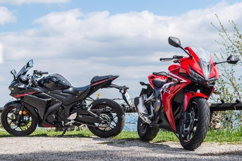 Honda CBR500R vs. Yamaha YZF-R3