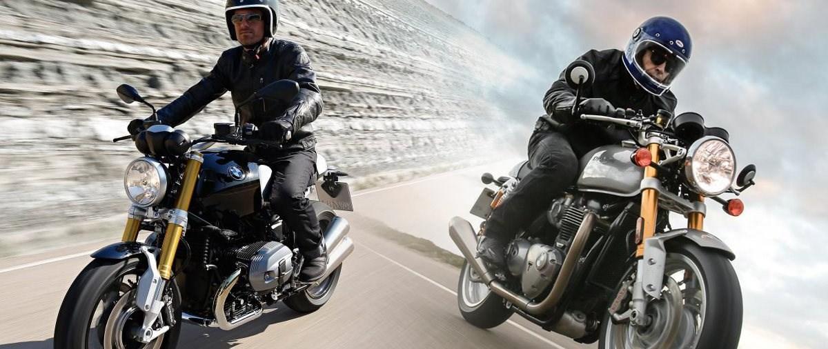 Triumph Thruxton R und BMW R nineT Vergleich