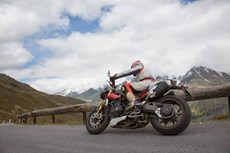 Triumph Speed Triple R Test in den Alpen Ischgl 2016