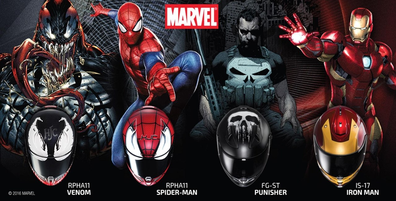 HJC Helme im Design der Marvel-Helden 2016
