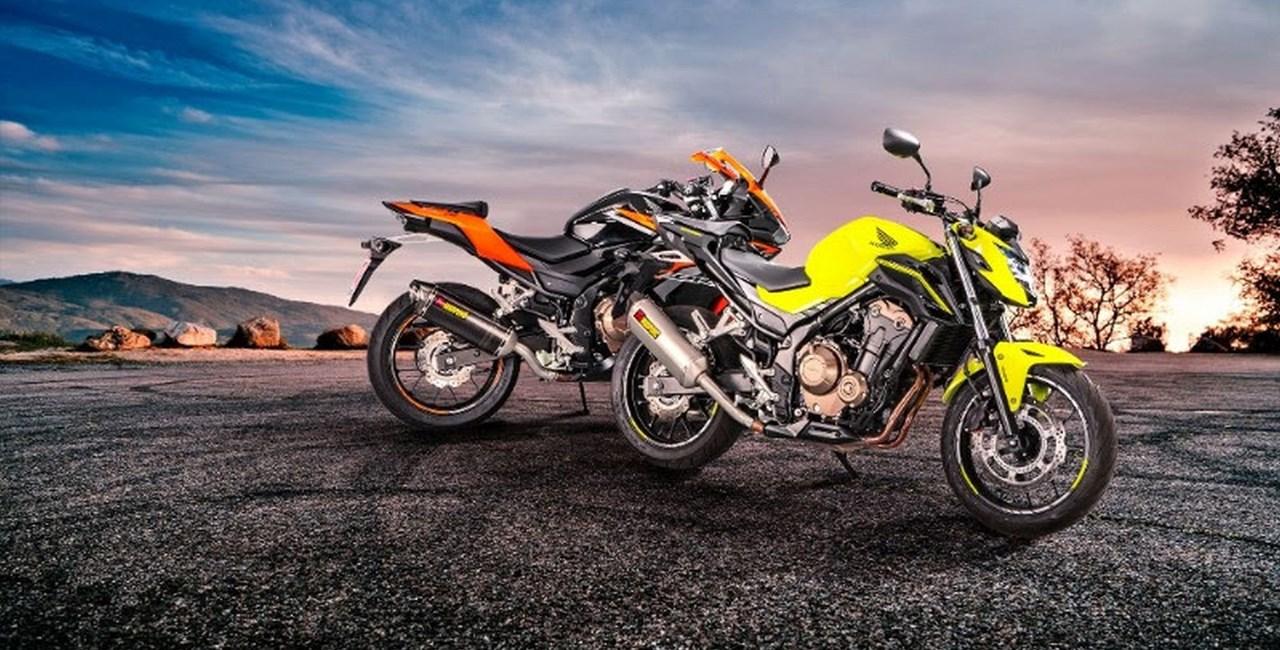 Akrapovič Slip-On-Systeme für die Honda CBR 400/500R und CB 500 F