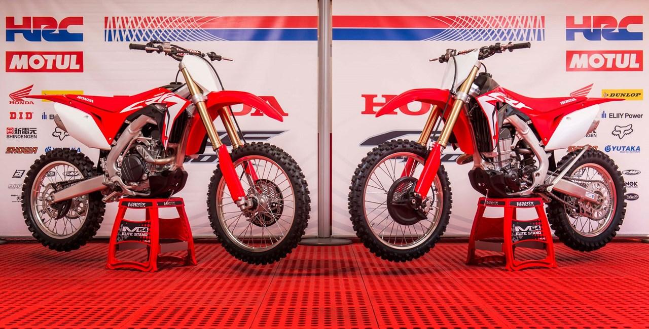 Honda CRF450R und CRF450RX 2017 live