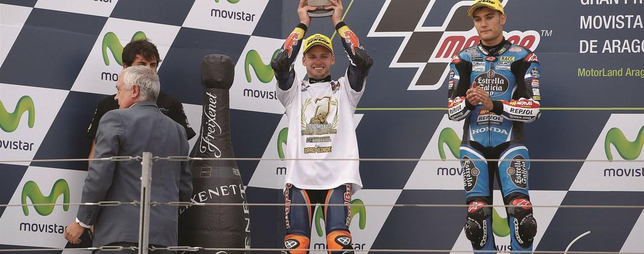 KTMs Brad Binder Moto3 Weltmeister 2016!