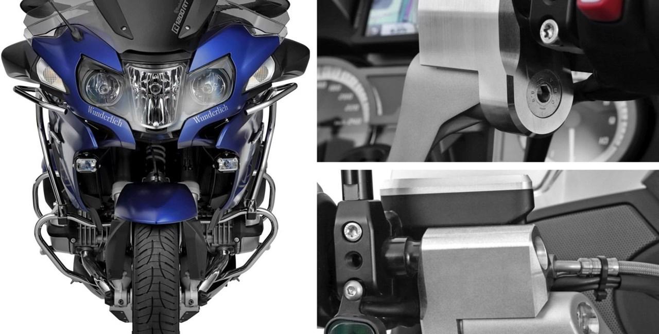 Lenkererhöhung für die BMW R 1200 RT LC von Wunderlich