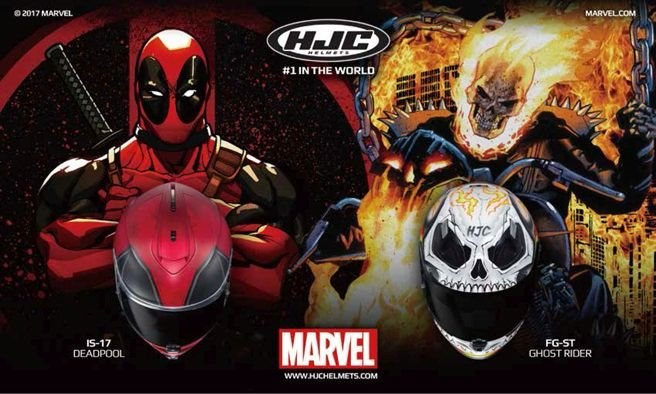 Neu in der HJC MARVEL Kollektion: DEADPOOL & GHOST RIDER