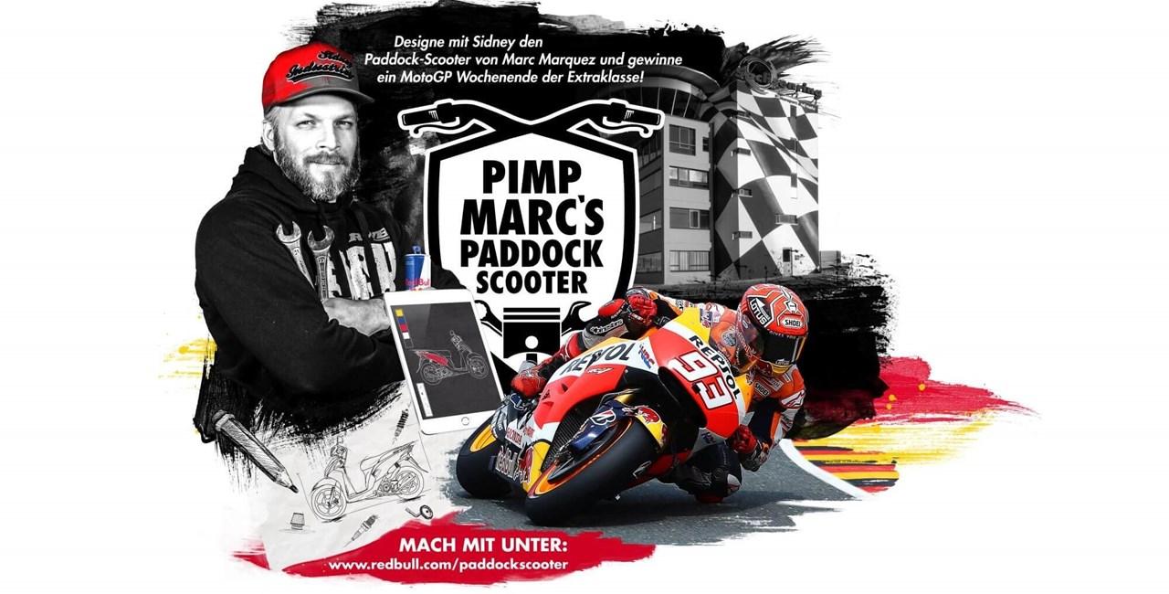 Pimpe den Paddock Scooter von MotoGP Weltmeister Marc Marquez