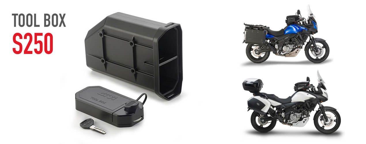 givi tool box s250 f r die suzuki dl v strom 650. Black Bedroom Furniture Sets. Home Design Ideas