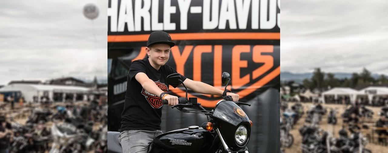 12-jähriger gewinnt Harley-Davidson Street 750