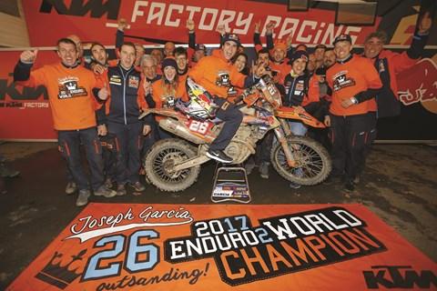 Joseph Garcia & KTM gewinnen Enduro2-Weltmeisterschaft 2017