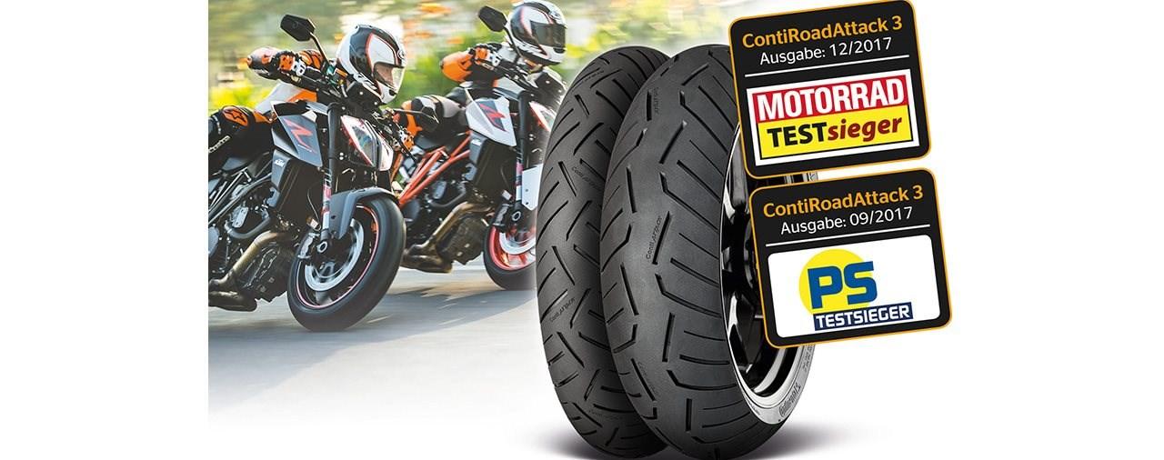 Testsieger von Continental für KTM Super Duke