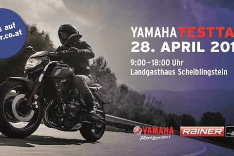 Yamaha Testtag am Exelberg - 28. April 2018