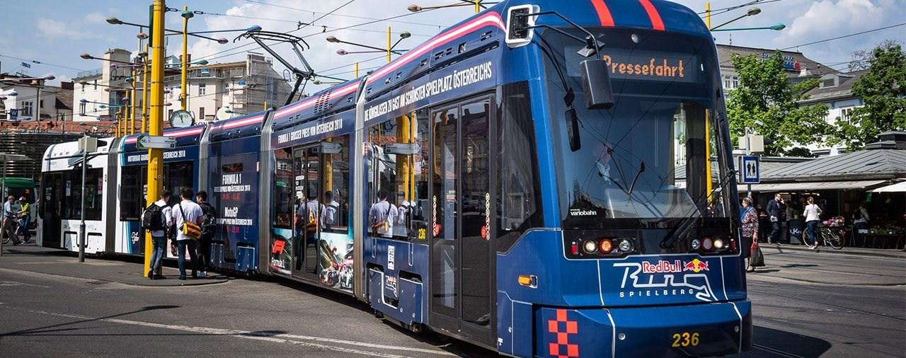 Die Grazer Strassenbahn im GP-Design