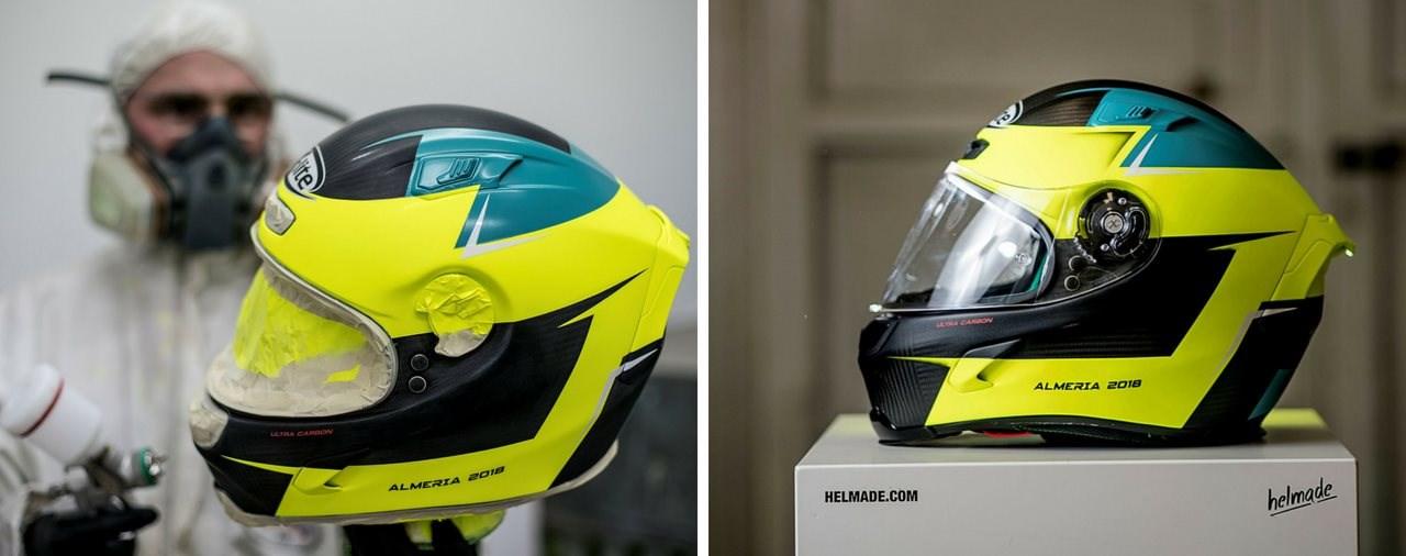 Nolan und X-lite Helme mit individuellem helmade Design