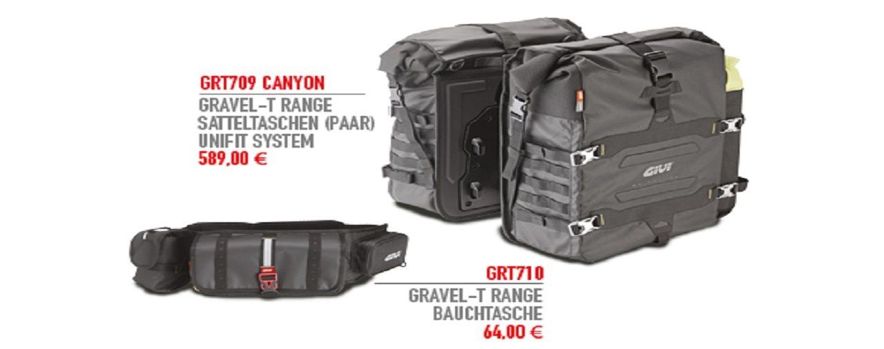 Genieße den niedrigsten Preis begrenzter Preis beste Sammlung Neue Gravel-T Produkte von GIVI - Motorrad News