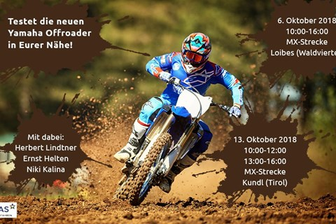Yamaha Offroad Testtage im Oktober