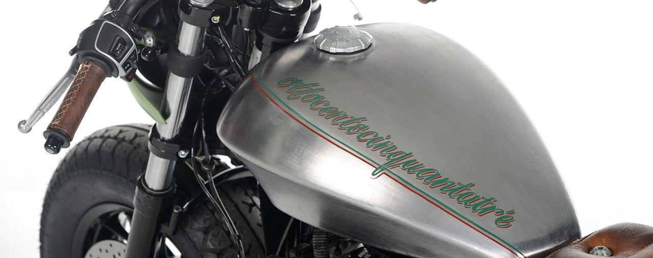 Ottocentocinquantatré - 853 cm³ in der Custom Moto Guzzi Bobber