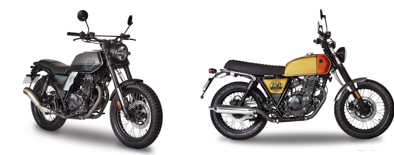 Brixton Glanville 250 X und Saxby 250