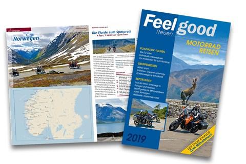 Der neue Feelgood Katalog mit den Motorradreisen 2019 ist da
