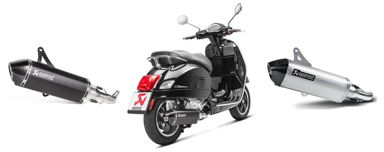 Akrapovic Auspuffanlage für die Vespa GTS 300 hpe