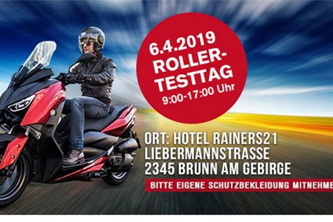 Yamaha Rainer Rollertesttag am 6.4.2019