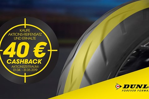 Dunlop Motorrad Cashback-Aktion 2019