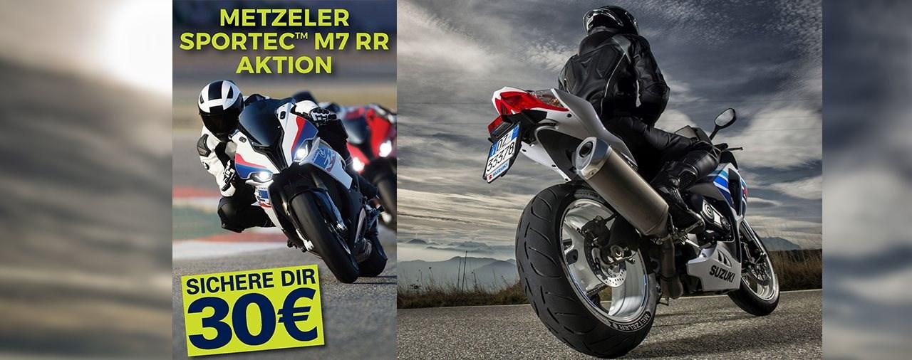 30 Euro Rückerstattung beim Kauf des Sportec Metzelers M7 RR