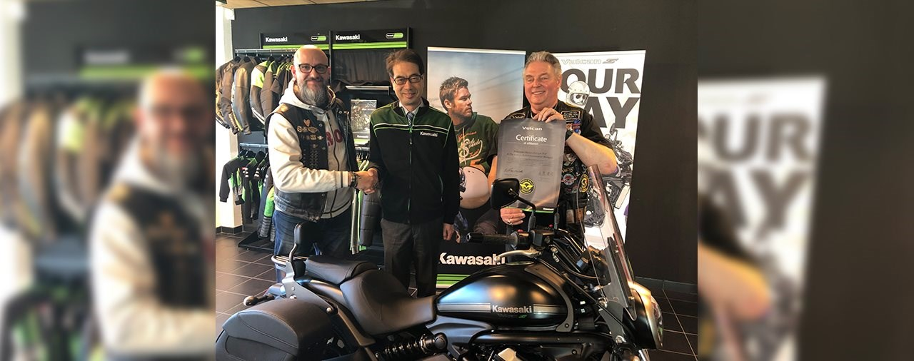Kawasaki Europe würdigt die Vulcan Riders Association