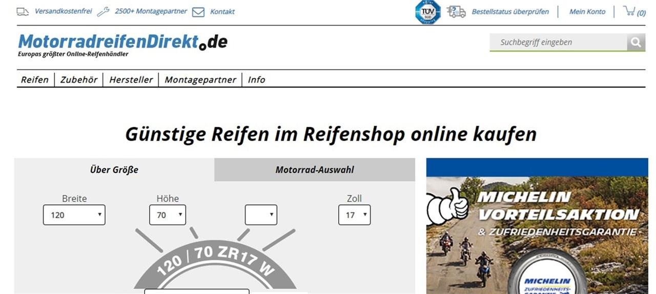 Neues Shop-Design auf MotorradreifenDirekt.de