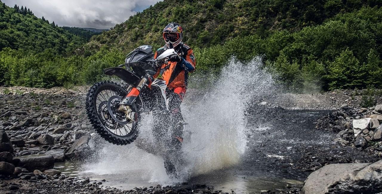 KTM 790 ADVENTURE R bei der Hellas-Rallye 2019