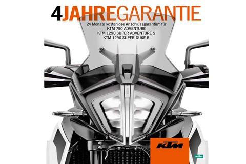4 Jahre Garantie bei KTM!