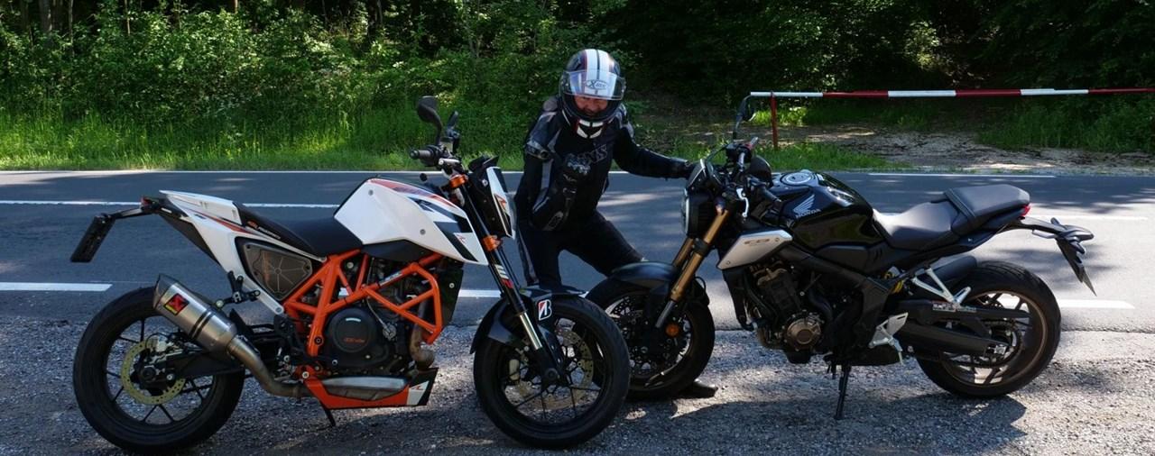 Honda CB650R vs. KTM 690 Duke Vergleich