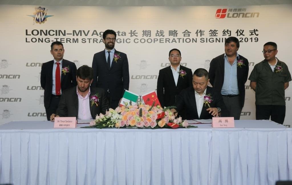MV Agusta mit Partner aus China